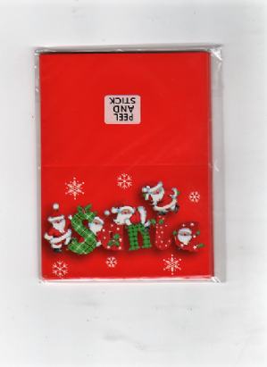Red festive Christmas gift tags - 3 packs for 50p (Code 2139)